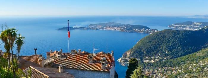 Panoramablick Côte d'Azur