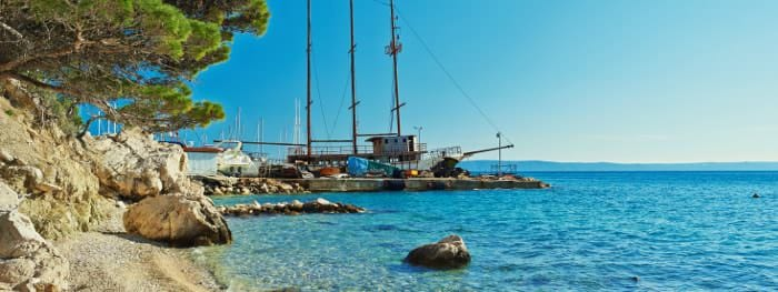 Die Adriaküste der Kvarner Bucht