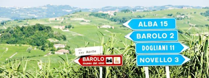 Reisewege im Piemont