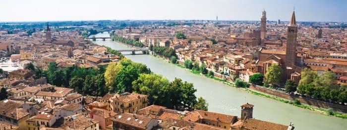 Wichtige Städte der Region Venetien